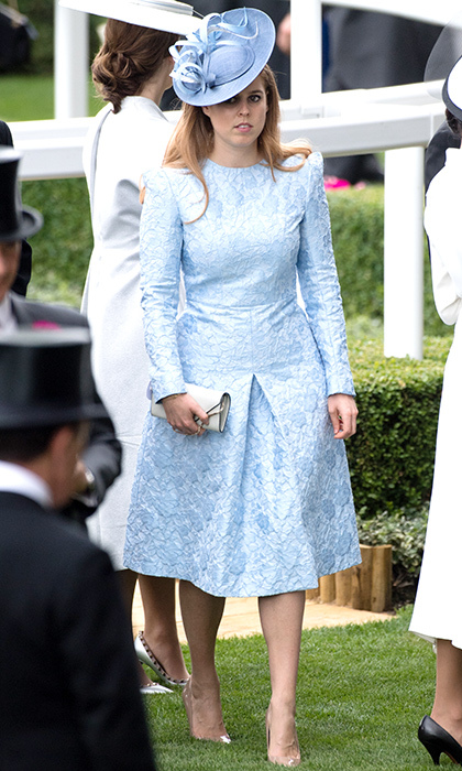 A baby blue fitted dress by Claire Mischevani and matching fascinator by Juliette Botterill were the winning bet for the 2018 Royal Ascot.