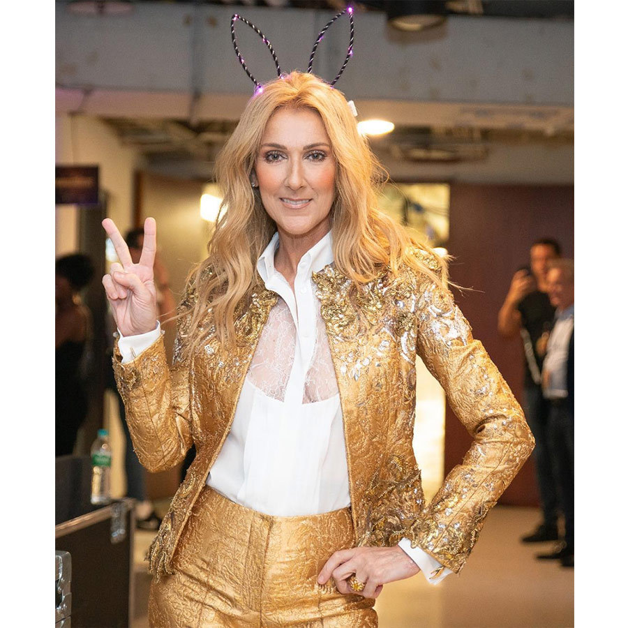 "Wearing a funky pair of light-up bunny ears and her gold lame Schiaparelli suit, the Canadian icon said goodbye to Australia. ""Peace out Australia… off to New Zealand. Thanks for the good times, the great memories! See you again soon. - Céline xx…"" she wrote on Instagram.