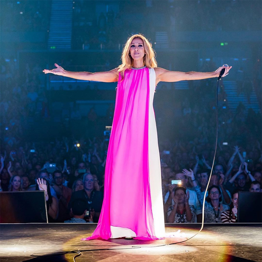 """Hello New Zealand! What a beautiful place to finish our tour…. ..so looking forward to spending the next few days with you!"" Celine said on Instagram, sharing a photo embracing her latest stop in a gorgeous pink gown by Schiaparelli. On Aug. 14 she'll perform her last show in Auckland before heading back to Las Vegas! 