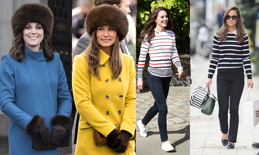 The Duchess of Cambridge and Pippa Middleton are more than just sisters by blood - they're sartorial twins, too, given the wardrobe similarities they've donned throughout the years.