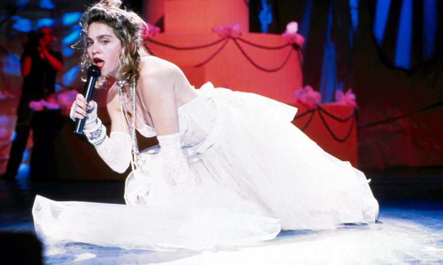 <strong>In 1984, Madonna appeared in this dress at what show?</strong><br>