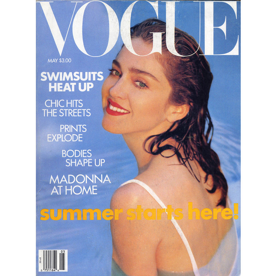 <strong>When was Madonna featured on the cover of <em>Vogue</em>for the first time?</strong><br>