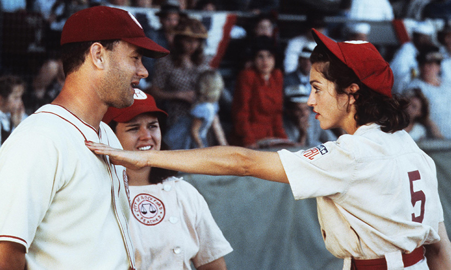 <strong>In which 1992 film starring Tom Hanks does Madonna play a character called Mae Mordabito?</strong><br>
