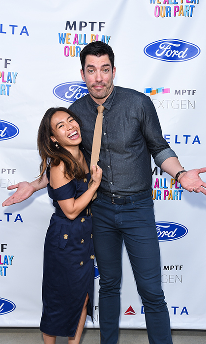 Linda Phan and Drew Scott were tugging on our heart strings while attending the Annual NextGen Summer Party at Paramount Pictures in California.