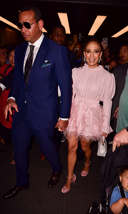 Alex Rodriguez and Jennifer Lopez enjoyed a stylish couple's night out at NBC Studios in the Rockefeller Center.
