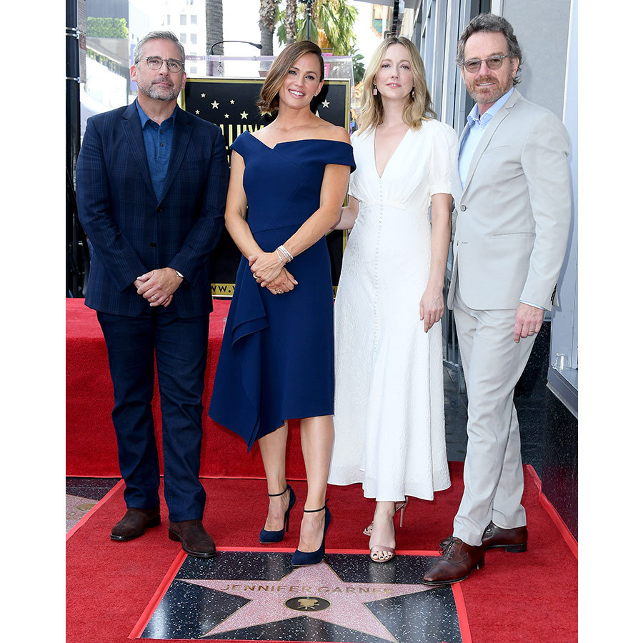Steve Carrell, Judy Greer and Bryan Cranston were there for the festivities, where they talked up their co-star and friend. Jennifer and Steve starred in <em>Alexander and the Terrible, Horrible, No Good, Very Bad Day</em>, while the mother of three and Judy Greer were both in <em>13 Going on 30</em>. Bryan Cranston shared many an intimate scene with Jennifer for their 2017 film <em>Wakefield</em>.