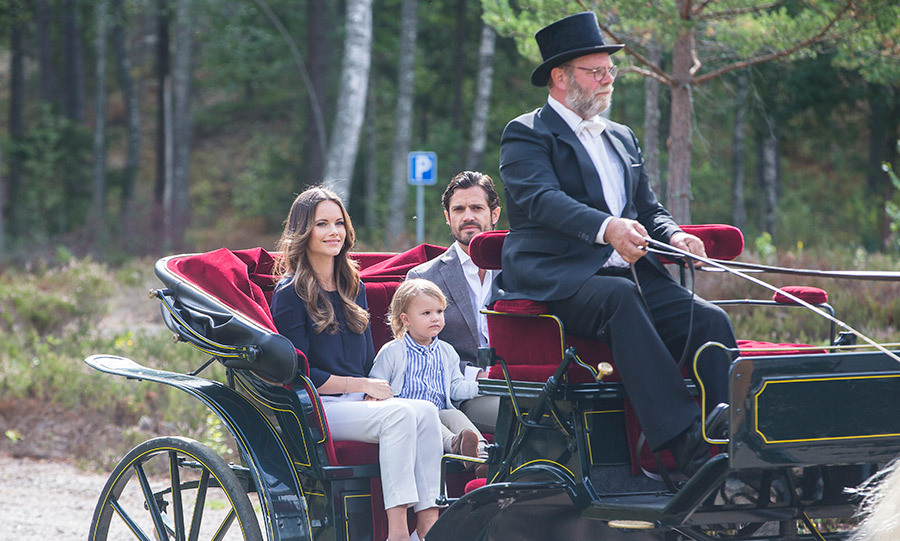Prince Alexander of Sweden delighted crowds on Thursday (Aug. 23) as the two-year-old toddled out on his first-ever engagement. Prince Carl Philip and Princess Sofia's son, the Duke of Södermanland, visited his duchy and its Nynas Nature reserve to open the Prince Alexander Viewpoint. The family rode in a carriage before their little one pulled a ribbon to inaugurate the lookout. 