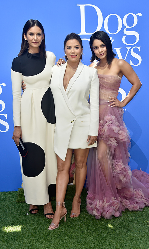 Nina Dobrev, Eva Longoria and Vanessa Hudgens put their best fashion feet forward at the premiere of LD Entertainment's <em>Dog Days</em> on Aug. 5.