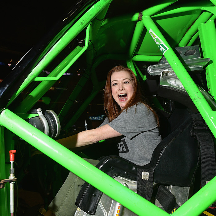 <em>Buffy the Vampire Slayer</em> alum Alyson Hannigan had some fun at the Monster Jam on Aug. 18.