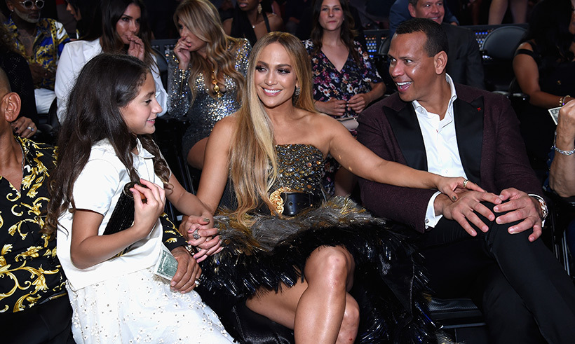 Jennifer Lopez, her daughter Emme Maribel Muniz and Alex Rodriguez enjoyed some quality family time at the MTV Video Music Awards.