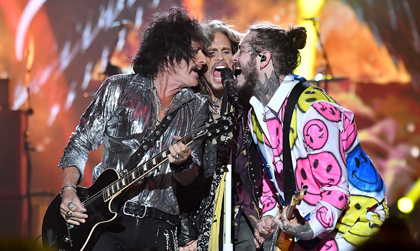 Joe Perry, Steven Tyler and Post Malone brought the house down at the awards show.