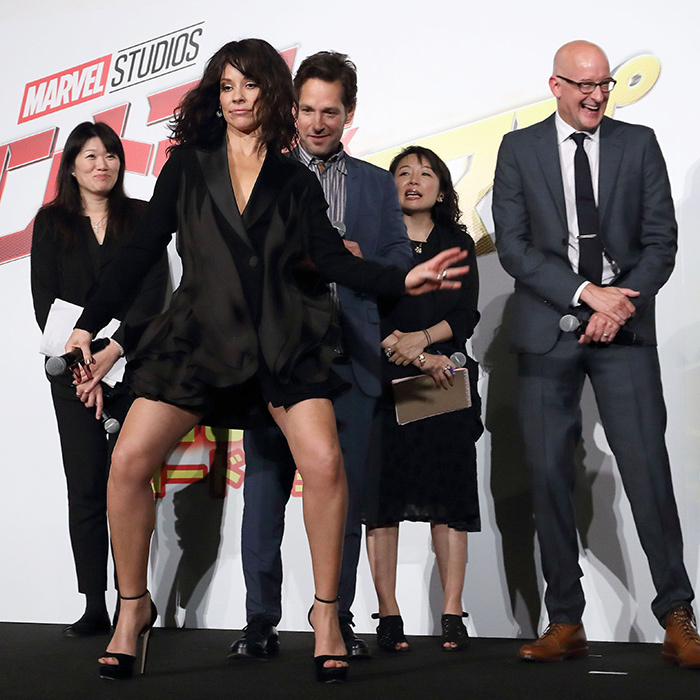 Evangeline Lilly broke it down at a photocall for her new movie <em>Ant-Man and the Wasp</em>.