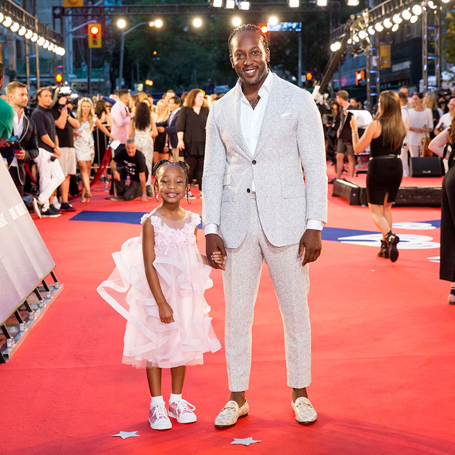 Tyrone Edwards with his daughter Life.