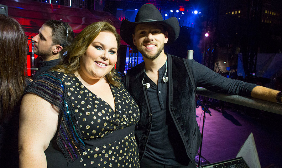 Canadian country star Brett Kissel stopped for a snapshot with beloved TV star Chrissy Metz of <em>This Is Us</em>.  Brett also had the crowd going wild when he performed his duet with Bebe Rexha.