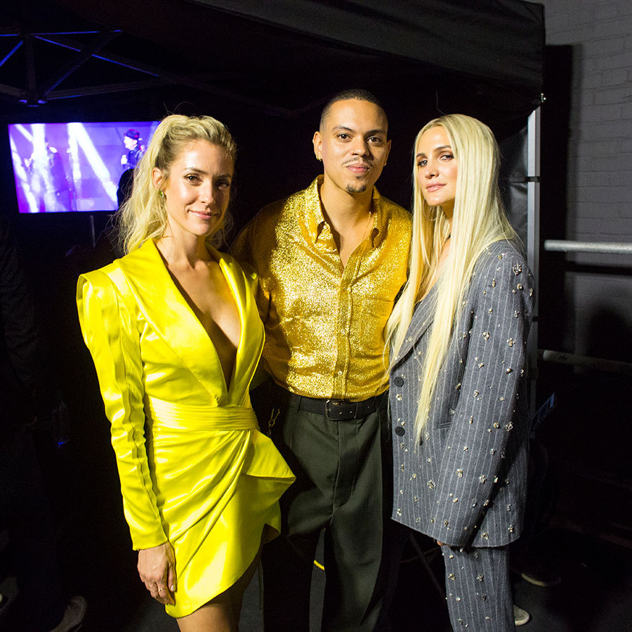 Lovebirds Ashlee Simpson-Ross and Evan Ross were on hand for a backstage photo with <em>Very Cavallari</em> star Kristin Cavallari.