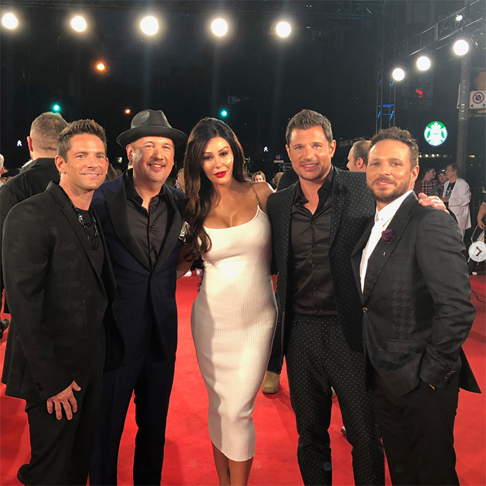 "JWoww's high school dreams came true! The star shared a fun photo on her Instagram, posing with the four members of 98 Degrees. ""My high school self is dying right now,"" she wrote in the caption.
