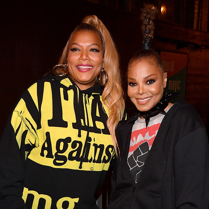 Queen Latifah and Janet Jackson looked comfy and chic backstage during Black Girls Rock! 2018 in New Jersey.