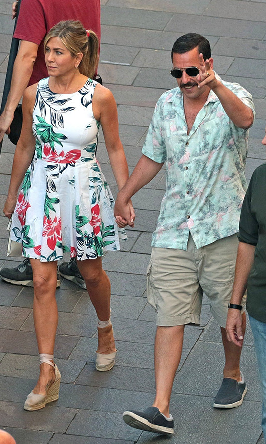 <h2>Jennifer Aniston and Adam Sandler</h2>