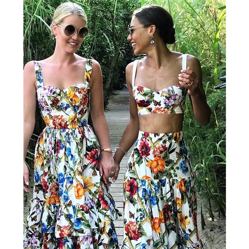 The glamorous model touched down in Nice as part of her European summer vacation in 2018, where she was twinning with bestie Viscountess Weymouth. The pair rocked floral-printed Dolce & Gabbana dresses to perfection!