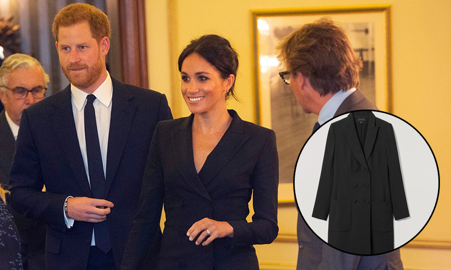 295c97be57720 How you can still get your hands on Meghan's Judith & Charles tuxedo dress
