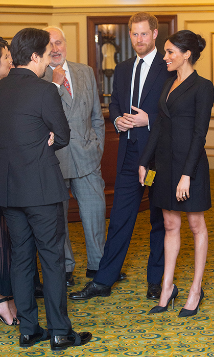 Lin Manuel-Miranda had the opportunity to mingle with the Duke and Duchess of Sussex for a very good cause on Aug. 29, when they all attended a gala presentation of London's West End production of <em>Hamilton</em> at the Victoria Palace Theatre. The event raised money for Sentebale, the charity Prince Harry founded with Prince Seeiso of Lesotho in honour of their mothers. It benefits children and families affected by HIV and AIDS in Lesotho and Botswana