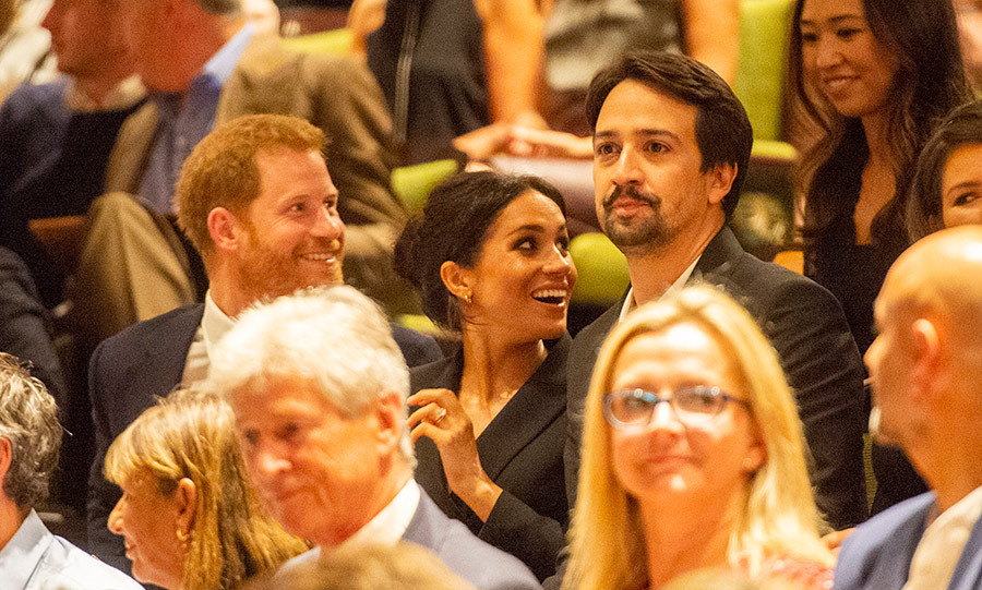 Prince Harry and Meghan had fun chatting with fellow attendees at the gala supporting the royal's Sentebale charity.