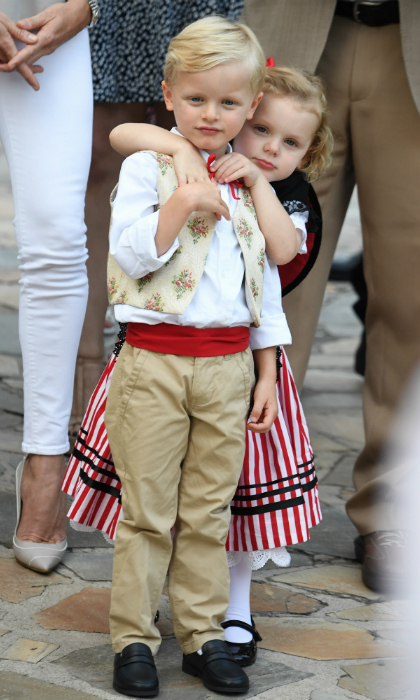 Prince Jacques and Princess Gabriella of Monaco made an adorable pair at the annual Monaco Picnic at Le Parc Princess Antoinette. Prince Albert and Princess Charlene's twins, 3, danced and clapped as they watched local performers in the park square. 