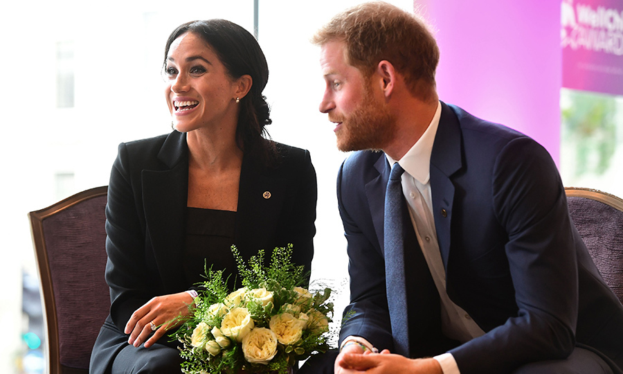 Prince Harry and Meghan were clearly in high spirits while interacting with some of the sweet kids.