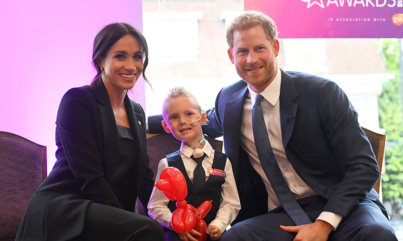 The couple were clearly overjoyed to be meeting Mckenzie, who does charitable work with Edinburgh Children's Hospital Charity.