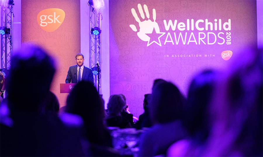 "Prince Harry took to the stage to dedicated an inspiring speech to the children who touched his life that evening. ""Every one of you is truly amazing. You have shown all of us what it means to be a champion – whether for yourself, your family, your community, or someone in need,"" he said to the crowd.