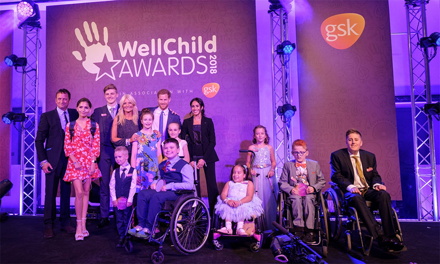 The duke and duchess posed with all of the amazing award winners.