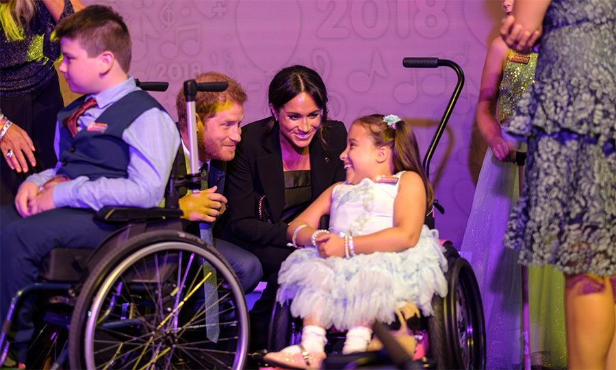 They had a lovely moment to bond with seven-year-old Matilda while they were on stage, too. The young girl has Spina Bifida and is paralyzed from the chest down, but dreams of becoming a nurse.