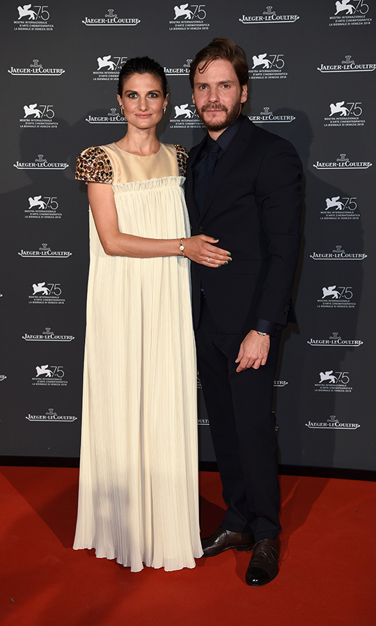<strong>Felicitas Rombold and Daniel Bruhl</strong>