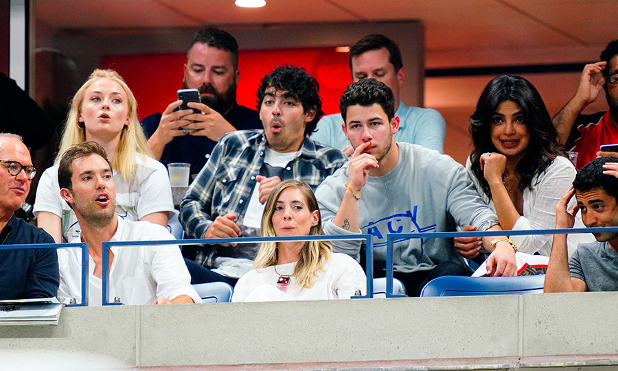 The foursome watched the match on Sept. 4 with animated expressions! Priyanka's mom, Madhu Chopra, was also on hand taking in the tennis action. 