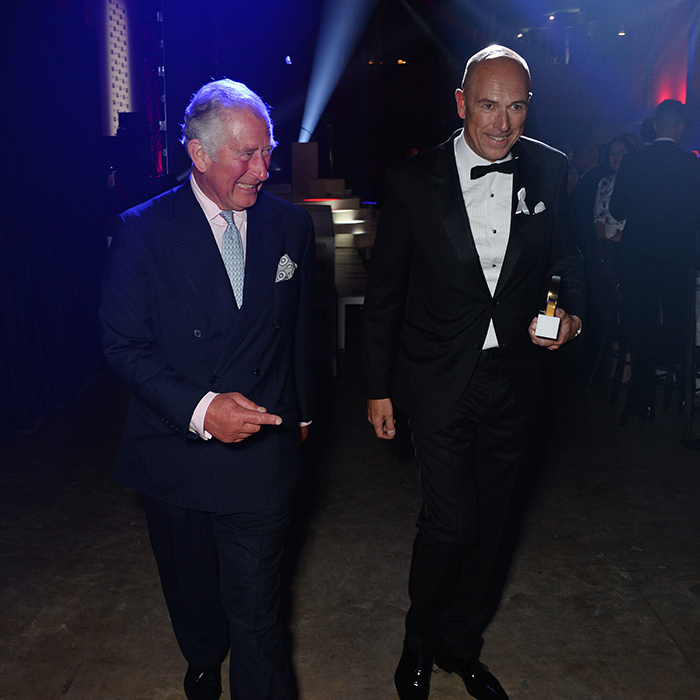 He's a dapper man indeed! The Prince of Wales attended the GQ Men of the Year Awards, and stopped to chat with the magazine's editor-in-chief Dylan Jones.