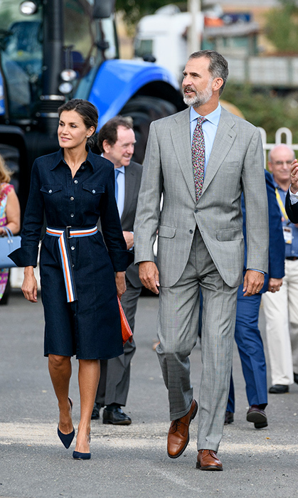King Felipe VI and Queen Letizia arrived hand-in-hand to the Salamaq '18 at Recinto Ferial on Sept. 5.