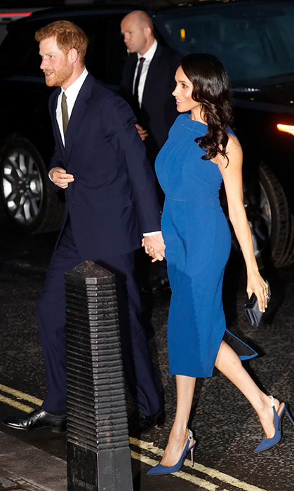 "Looking beautiful in blue, <a href=""/tags/0/meghan-markle/"">Meghan Markle</a> stunned in a blue Jason Wu dress, a sweet Dior clutch and a new pair of shoes from one of her favoured designers, Aquazzura.