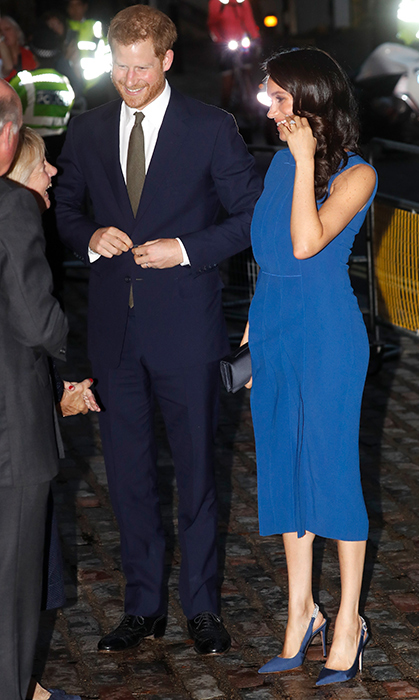 Meghan and Harry appeared to be in the happiest of spirits following their evening at the WellChild Awards two days ago. 