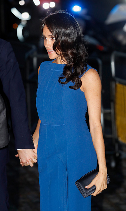 Meghan wore a blue Jason Wu dress once before, when she stepped out for the first time with Prince William, Duchess Kate and her then-fiancé, Prince Harry, at the Royal Foundation Forum.