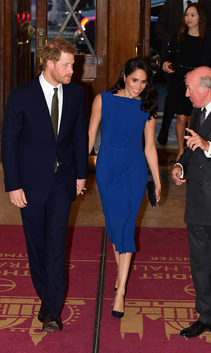 This was Meghan and Harry's third outing in a week and they looked thrilled to be out for a great cause! One week ago they attended a gala presentation of <em>Hamilton</em> benefitting Prince Harry's Sentebale charity and two days ago they had an emotional evening at the WellChild Awards.