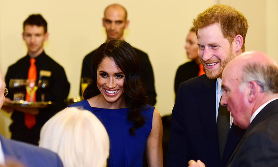 During the intermission, the Sussexes chatted with other guests at the musical affair benefitting three charities: Help for Heroes, Combat Stress and Heads Together.