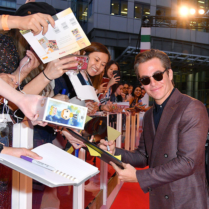 Chris Pine got friendly with his fans at <em>Outlaw King</em>'s opening-night premiere on Sept. 6! Roy Thomson Hall was buzzing with excitement as the handsome star took time chatting with his admirers before heading in to watch the historical action drama.