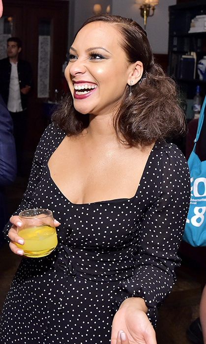 Jasmine Cephas Jones looked pretty in polkadots at the <em>Monsters and Men</em> after-party. Talent sipped Greygoose Vodka and enjoyed the exclusive space at Toronto's Soho House.
