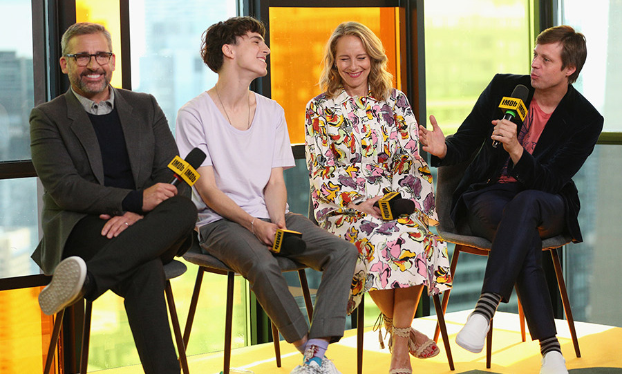 Steve Carrell, Timothee Chalamet and Amy Ryan were all smiles as they chatted about their film <em>Beautiful Boy</em> on Sept. 7 in the IMDb Studio at Bisha Hotel.