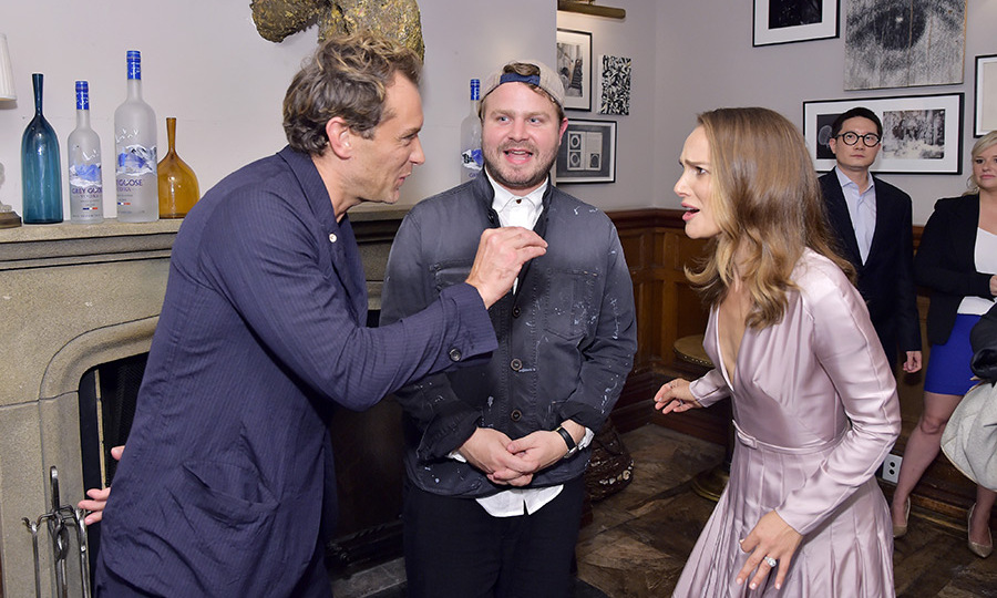 Jude Law and Natalie Portman had an animated chat at Soho House on Sept. 7 at a fete celebrating their film <em>Vox Lux</em>. During the party, the DJ played Natalie's rap with Lonely Island and she broke into giggles and danced with friends. 