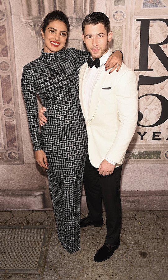 Lovebirds Priyanka Chopra and Nick Jonas were still basking in their post-engagement bliss as they stepped out to toast Ralph Lauren's 50th Anniversary at Bethesda Terrace on Sept. 7 during New York Fashion Week.