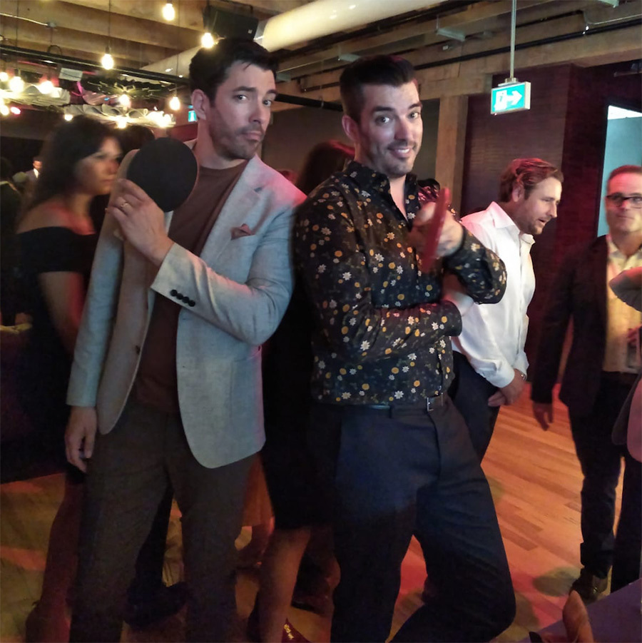 Drew and Jonathan Scott put their ping pong paddles to good use at the IT House x Producers Ball Gala on July 7. The annual shindig, hosted by the Property Brothers, takes over Live Nation Canada's The Lounge in Toronto.
