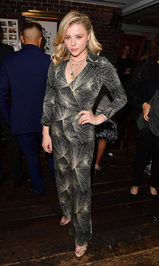 Chloe Grace Moretz was back at Soho House, this time in a stunning jumpsuit, to toast <em>Beautiful Boy</em> with Hugo Boss.