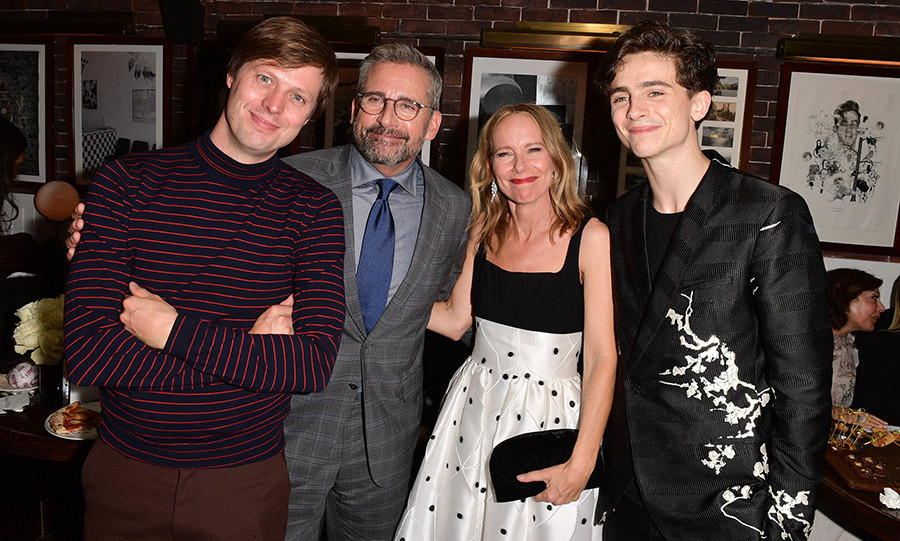 Director Felix van Groeningen, Steve Carrell, Amy Ryan and Timothee Chalamet were all smiles at the swank soiree celebrating their latest, <em>Beautiful Boy</em>, hosted by Hugo Boss.