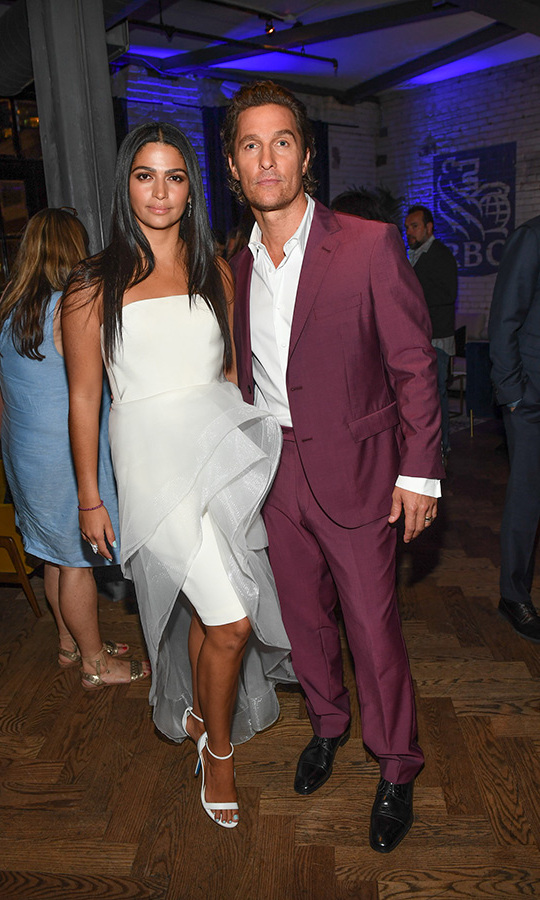 <h2>Camila Alves and Matthew McConaughey</h2>